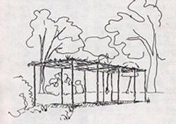 "Artist concept of a ""brush arbor "" , as mentioned image. Click for full size."