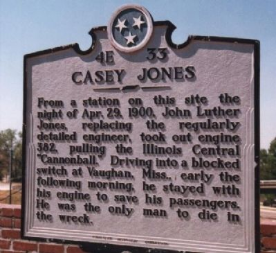 Casey Jones Marker image. Click for full size.
