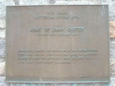 Home of Jimmy Carter - Rotterdam, New York image. Click for full size.