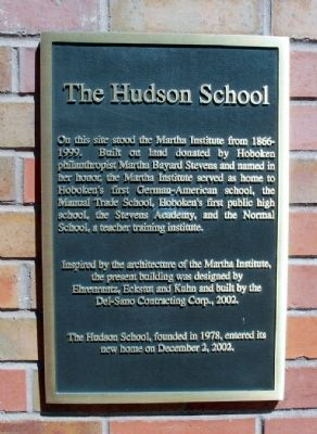 Hudson School Marker image. Click for full size.