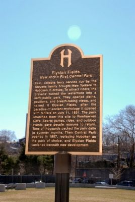 Elysian Fields Historical Marker image. Click for full size.