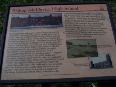 Bishop McDevitt High School Marker image. Click for full size.