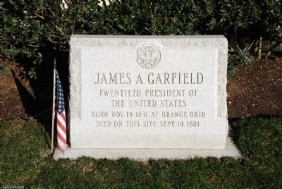 President Garfield Death Site Marker image. Click for full size.