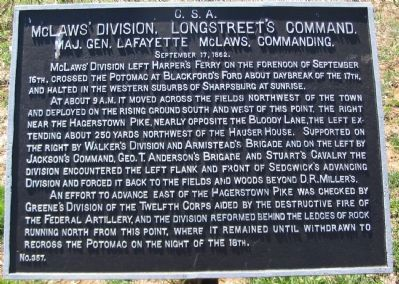 McLaws' Division Tablet image. Click for full size.