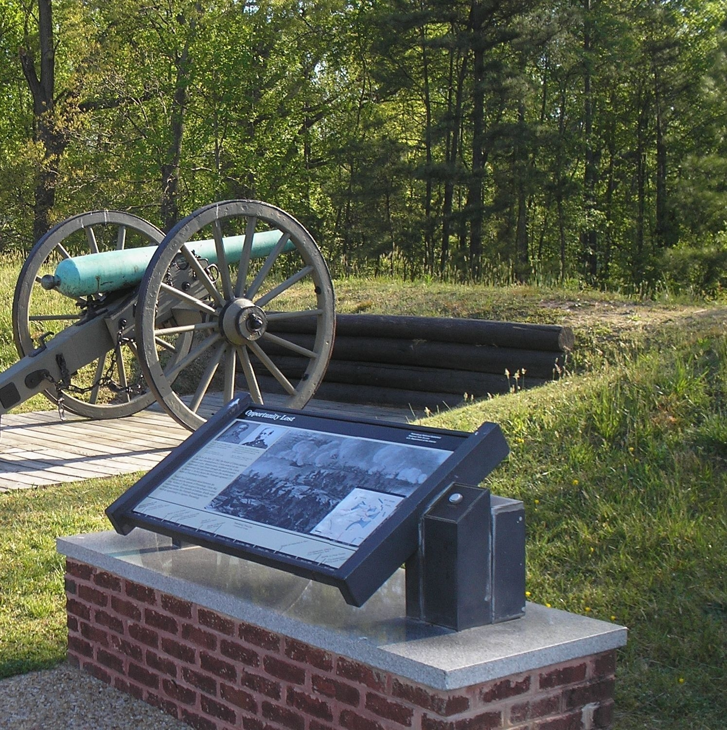 Marker and a cannon