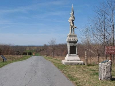 Purnell Legion and 125th Pennsylvania Monuments image. Click for full size.