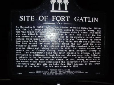 Site of Fort Gatlin Marker image. Click for full size.