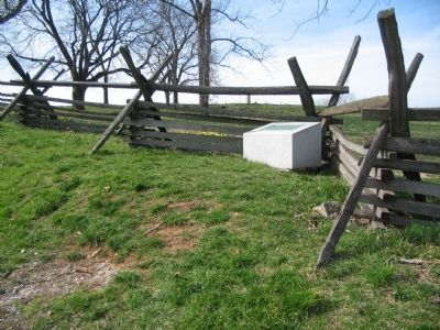 14th Indiana Monument along the Sunken Road image. Click for full size.