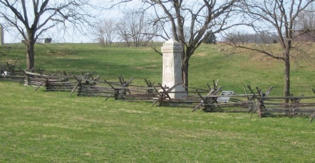 8th Ohio Infantry Monument along the Sunken Road image. Click for full size.