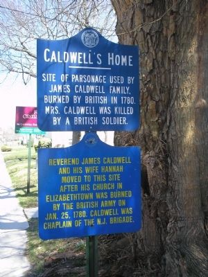 Caldwell's Home Marker image. Click for full size.