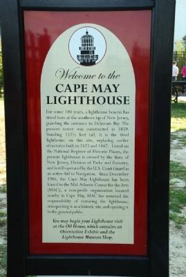 Cape May Lighthouse Marker image. Click for full size.