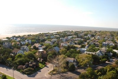 Cape May as seen from the top of the lighthouse image. Click for full size.