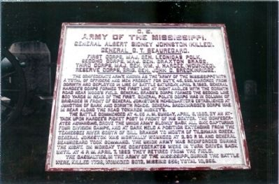 C.S. Army Of The Mississippi Marker image. Click for full size.