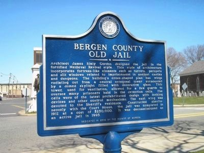 Bergen County Old Jail Marker image. Click for full size.