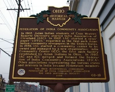 Federation of India Community Association Marker image. Click for full size.