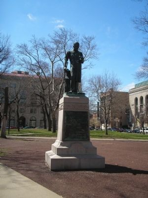 Seth Boyden Statue image. Click for full size.