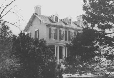 Historical photo of the Goldsborough house image. Click for full size.