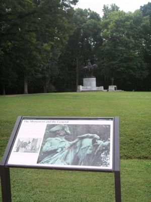 Marker and Gen. Greene Statue image. Click for full size.