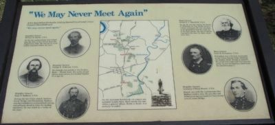 """We May Never Meet Again"" Marker image. Click for full size."