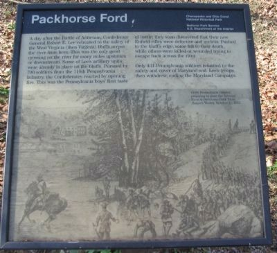 Packhorse Ford Marker image. Click for full size.
