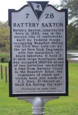 Battery Saxton Marker image. Click for full size.