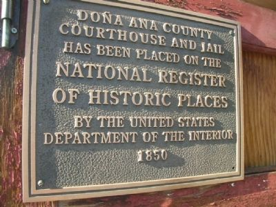 Dona Ana County Courthouse and Jail Marker image. Click for full size.