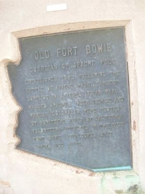 Old Fort Bowie Marker image. Click for full size.