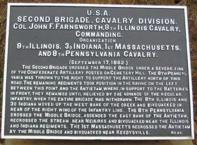 2nd Brigade, Cavalry Division Tablet image. Click for full size.
