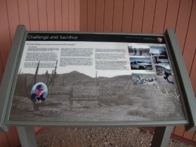 Information board in front of Visitor Center image. Click for full size.