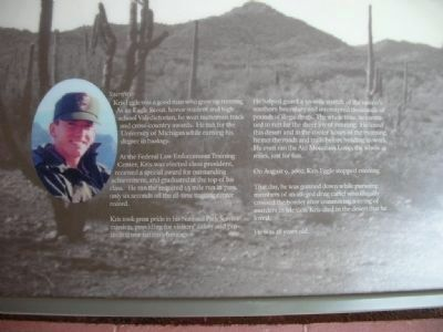 Close-up of information board in front of Visitor Center image. Click for full size.
