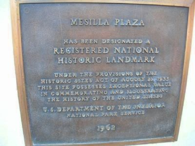 Mesilla Plaza image. Click for full size.