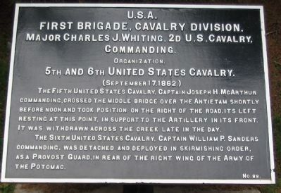 1st Brigade, Cavalry Division Tablet image. Click for full size.