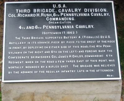 3rd Brigade, Cavalry Division Tablet image. Click for full size.