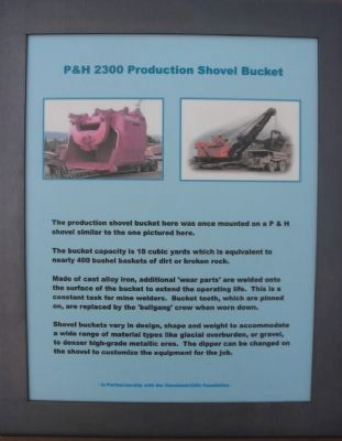 P & H 2300 Production Shovel Bucket Marker image. Click for full size.