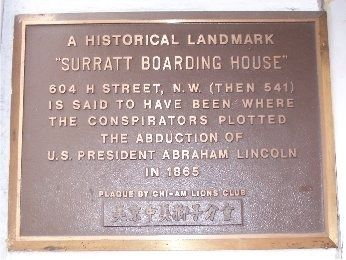 """Surratt Boarding House"" Marker image. Click for full size."