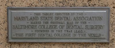 Baltimore College of Dental Surgery Marker image. Click for full size.