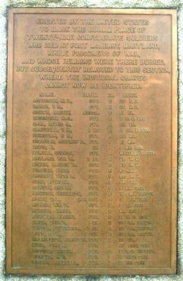 Burial Place of Twenty-Nine Confederate Soldiers Marker image. Click for full size.