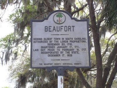 Beaufort Marker, seen at former location image. Click for full size.