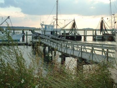 Shrimping , big business in Beaufort image. Click for full size.
