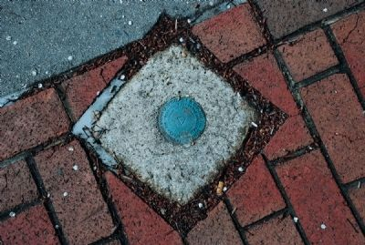 U.S. Geodetic Survey Marker on Former Court House Plaza image. Click for full size.