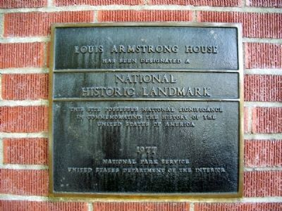 "Louis ""Pops"" Armstrong House marker image. Click for full size."