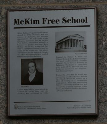 McKim Free School Marker image. Click for full size.