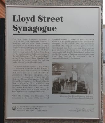 Lloyd Street Synagogue Marker image. Click for full size.