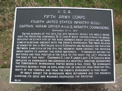 4th U.S. Infantry Tablet image. Click for full size.