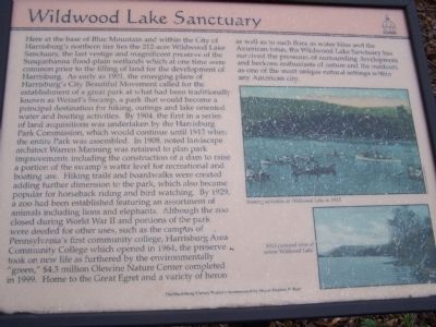 Wildwood Lake Sanctuary Marker image. Click for full size.