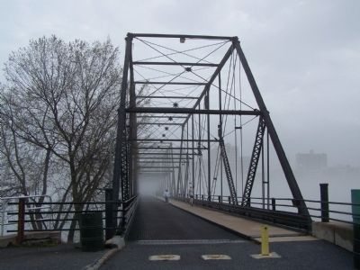 Bridge is open to pedestrians and bikes only. image. Click for full size.
