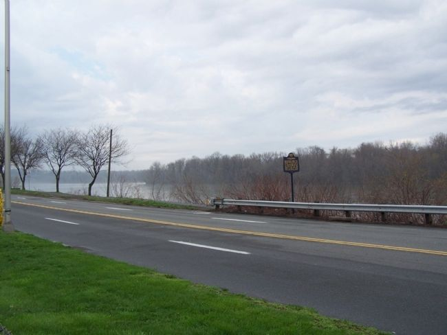 Marker is adjacent to the Susquehanna River at the City Line. image. Click for full size.
