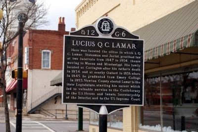 Lucius Q. C. Lamar Marker image. Click for full size.