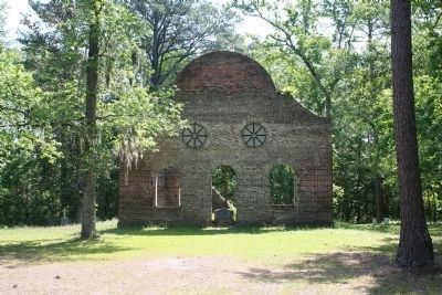 Ruins of Pon Pon Chapel of Ease and Marker image. Click for full size.