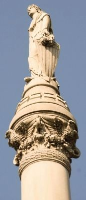 View of Lady Liberty and her shield image. Click for full size.